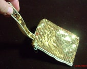 SALE 15% OFF - Ladies Golden Sparkle Evening Clutch Bag, Gold Sequined hand bag, Evening bag in gold.....