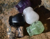 Lot of small gemstone vase beads  DB073B