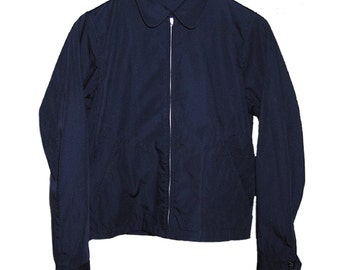 Zipped Navy Lightweight Jacket