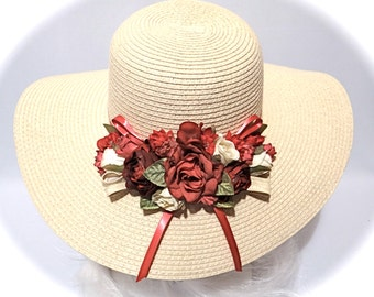 SUMMER SALE>>>>Kentucky Derby Hat Sun Hats Women's Hat - DH-107