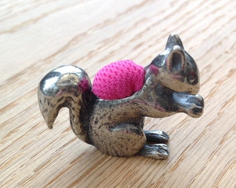 Pewter Pincushion - Squirrel