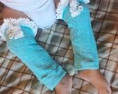 baby girl leg warmers lace legwarmers leg warmers mint knit lace trim legwarmers photo prop baby legwarmers