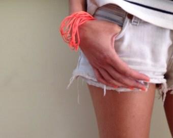 neon bracelet pack, sumer bracelet, waterproof bangles, summer trend bracelets, back to school bracelet, sumer birthday gift, fluo bracelet