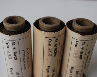 3 spools A.H Rice CO. vintage A H Rice thread