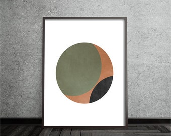 Contemporary, Circle Print, Abstract, Art, Poster, Mid Century Modern, Geometric,