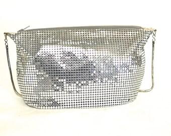 Silver Mesh Shoulder Bag - Party Purse - Vintage Italian