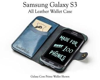Galaxy S3 Leather Wallet Case - No Plastic - Free Inscription