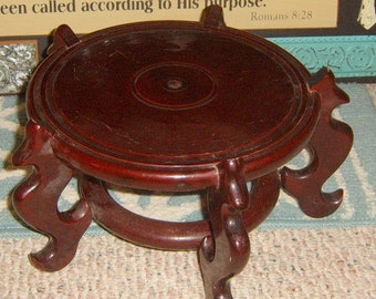 Vintage, Wooden , Plant Stand,  Oriental Plant Stand, Display Stand,