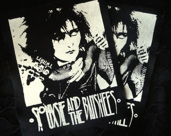 Siouxsie and the Banshees Goth Punk Back Patch - Black, White (the cure, bauhaus)