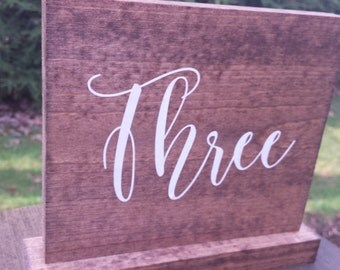Table Numbers, Rustic Table Numbers, Wood Table Numbers, Rustic Wedding