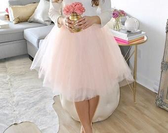 Blush tulle skirt, tutu skirt,adult tutu