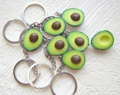 RESERVED for  Emma. Avocado keychains. Set of 7.