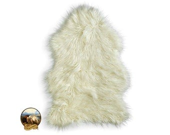 Faux Fur Sheepskin Rug - Common Sheep Skin - Shaggy Soft - New Sizes and Colors