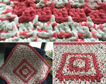 Crocheted Blanket ~ 36 inch Granny Square ~ Baby Blanket ~ Toddler Blanket ~ Snuggle Blanket ~ Lap Blanket ~ Ready to Ship Blanket