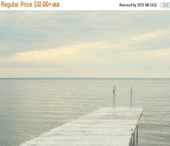 SALE Lake Photograph, Gray Wall Art, Lake House Decor, Coastal Photography, Oversized Print, Cottage Artwork
