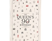 The Queens 90th Birthday Tea Towel