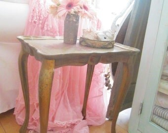 Italian Florentine vintage table shabby chic Rachel Ashwell prairie cottage
