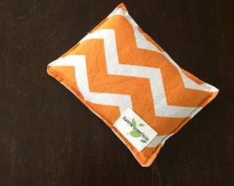 Flaxseed Filled Owie bags, Ouchie Bags, Natural Hot/Cold Therapy Packs orange Chevron