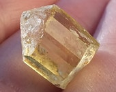 Apatite Crystal, Golden Yellow Terminated Crystal Point, Raw High Grade - MEXICO - 2.2g/11ct - 12mm - Inner Power - Overcome Fears (2-555)