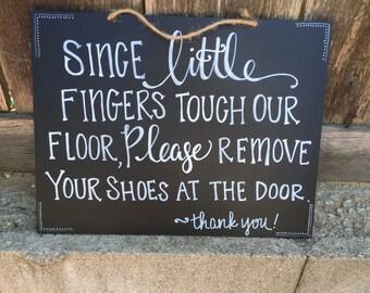 hanging door sign- custom phrase.