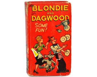 Blondie and Dagwood Some Fun, Whitman Better Little Book 703-10, Hardcover Childrens Book, Vintage Kids Book, Comic Characters