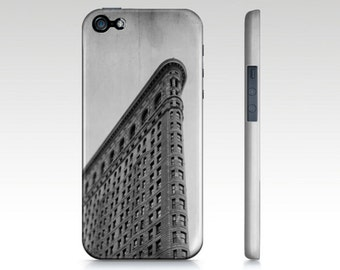 New York City Phone Case for iPhone /Samsung Galaxy. Flatiron Building, NYC design in black and white