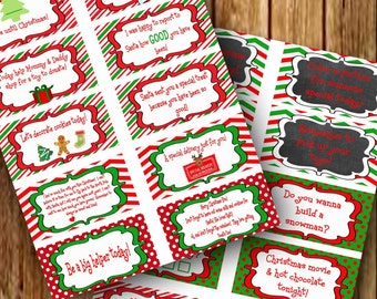 Fun Elf Notes - 20 Christmas Elf Notes Print Yourself Instant download