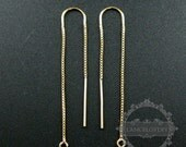 2pcs 47x8mm 14K gold filled high quality color not tarnished U threader box chain drop with open ring DIY earrings supplies 1705047