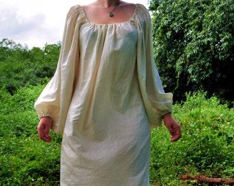 Women's Silky Chemise - full-length chemise, shirt, underdress, Renaissance shirt, pirate shirt, peasant blouse