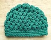 Crochet PUFF STITCH BEANIE hat photo prop - baby, toddler, child, teen, adult