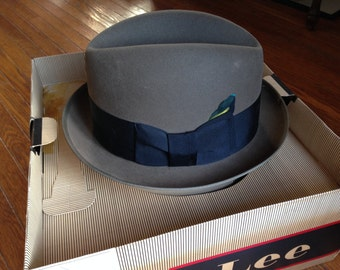 Lee Fedora Hat with Original Box
