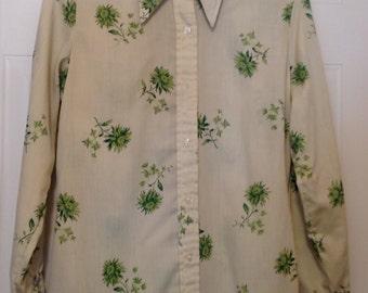 Vintage floral western style blouse