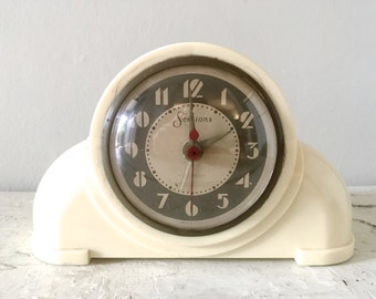 Vintage Bakelite Sessions Art Deco Clock Midcentury Electric Retro