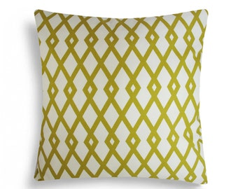 Graphic Fret, Citrine, Robert Allen - Decorative Pillow Cushion Covers - Accent Pillow - Throw Pillow