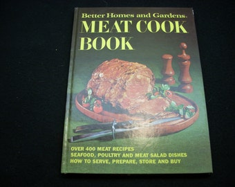Vintage Better Homes and Gardens Meat Cook Book 1971