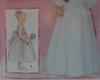 "Simplicity (2003) ""Daisy Kingdom"" dress w/sleeve options. Size 3-4-5-6. Complete, unused,"