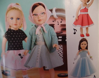 Simplicity 0669--18 Inch Doll Clothing Pattern --New Uncut