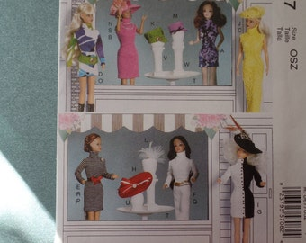 Fashion Doll Sewing Pattern Uncut Original Factory Fold Crafts McCall's 7067 - Barbie Doll Clothes-Accessories  UNCUT