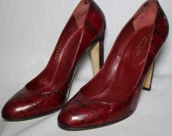 Sergio Rossi Size 37.5 Red Heels