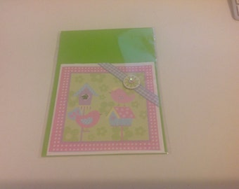 Little Birdie Card Blank Card Any Occasion