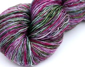 "Kettle Dyed Sock Yarn, Superwash Merino Fingering Weight, in ""Hellebore"""