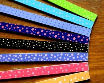 Origami Lucky Star Paper Strips Tiny Stars Mixed Designs Star Foldng DIY - About 120 Strips