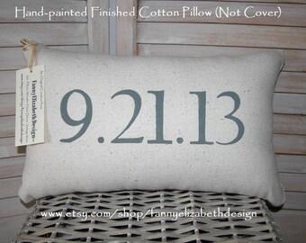 Date Pillow- Best Seller-Engagement Gift-Date Pillow-Date Pillows-Personalized Pillow-Wedding Gift-Anniversary Gifts-Decorative Pillows-Gift