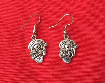 Day of the dead Sugar Skull Catrin Earrings