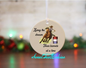 Barrel Racing Ornament Barrel Racer Christmas Ornament Christmas Ornament Western Christmas Ornament