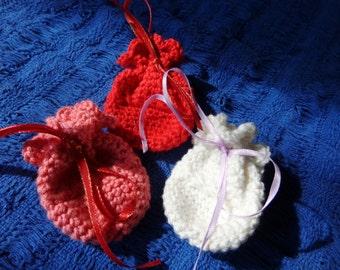Mini Crochet Charm Bag Spell Bag Medicine Bag.  Clearance.  Discount. 50% OFF!