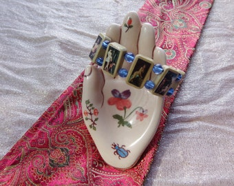 Diana Artemis Wooden Devotional Bracelet. Pagan Polytheist Hellenist Devotional Jewelry