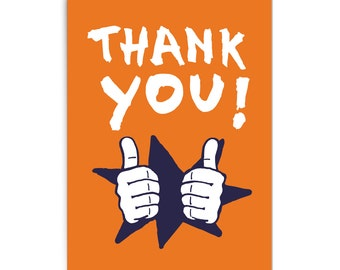 "Thank you card ""Thumbs up"""