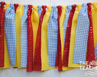 Dorothy Garland - FREE Shipping - Dorothy Fabric Bunting - Dorothy Fabric Garland - Dorothy Banner - Dorothy Wizard of Oz - Wizard of Oz