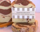 Almond Biscotti Soap - with cocoa, shea butter and avocado oil